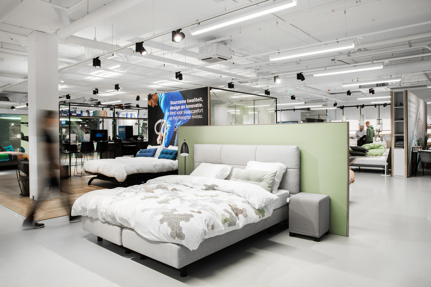 Auping Plaza Amsterdam Villa Arena – Natural Talalay Latex Mattress and Latex Pillow Store in Amsterdam Villa Arena NH