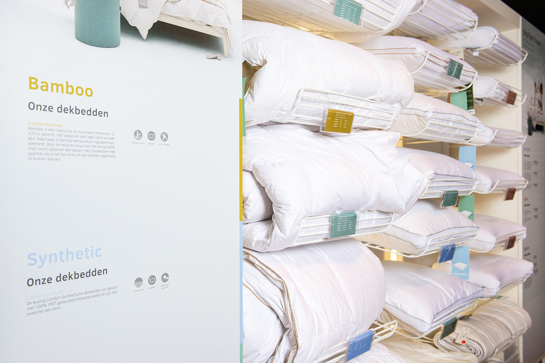 Auping Plaza Venlo – Natural Talalay Latex Pillow Store in Venlo Limburg